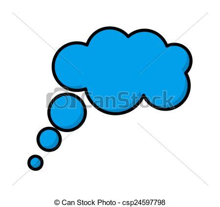 450x423 Thought Bubble. Abstract Retro Comic Blue Speech Bubble Vector