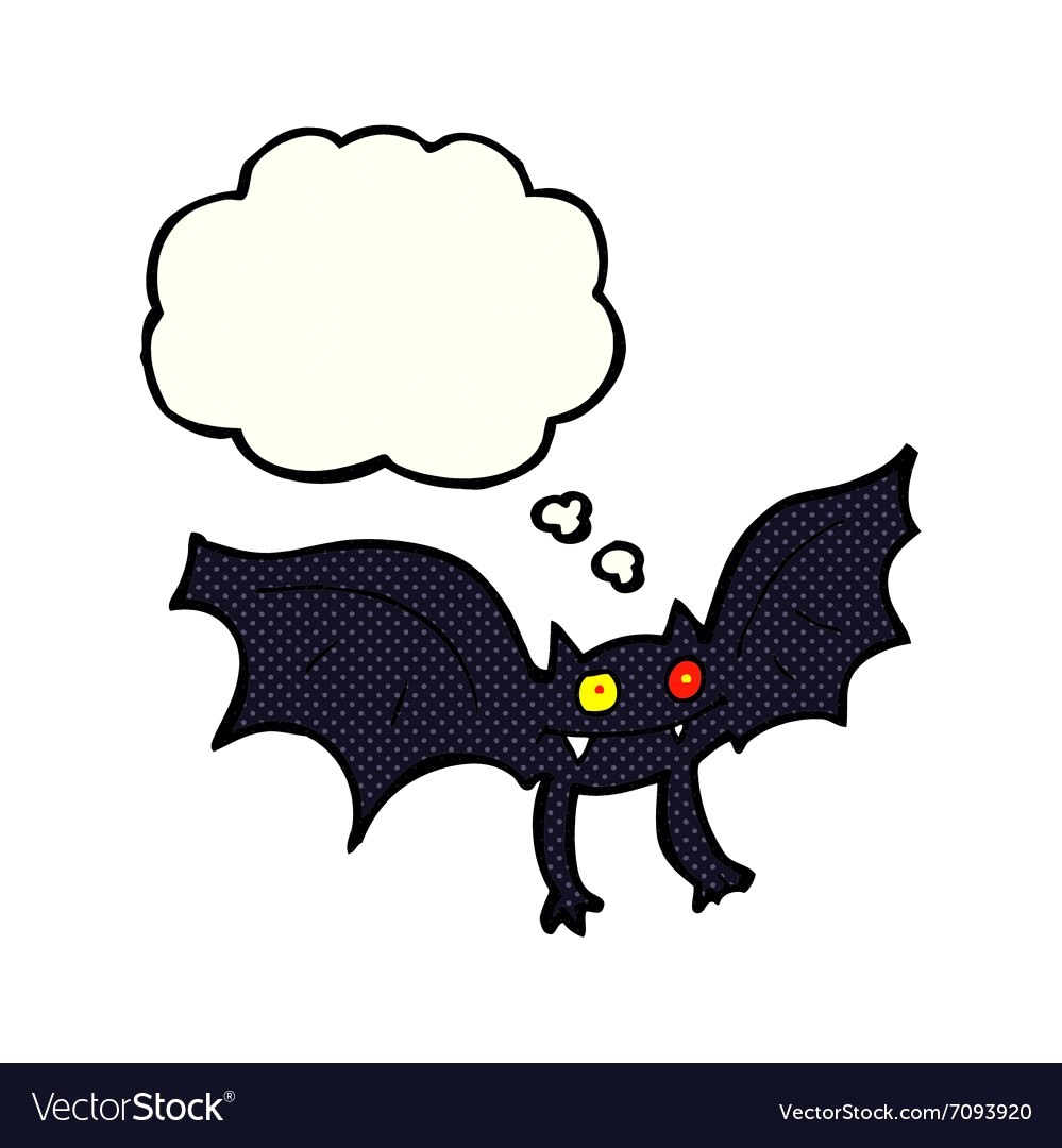 999x1080 Cartoon Vampire Bat With Thought Bubble Vector 7093920 Images