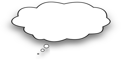 500x264 Cartoon Thought Bubble Vector Image Public Domain Vectors