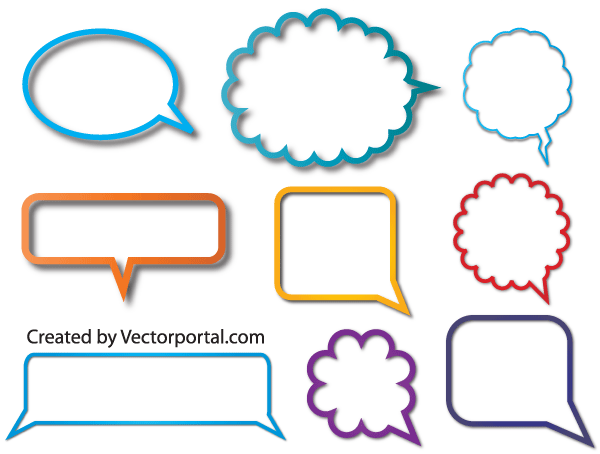 600x454 Speech Bubble Vectors Download Free Vector Art Amp Graphics
