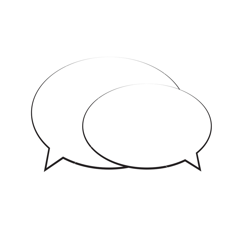 1000x1000 Speech Bubble Icon Isolated. Thought Bubble Vector, Illustration
