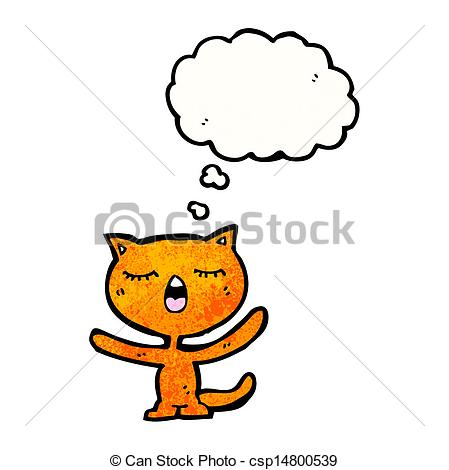 449x470 Cartoon Cat With Thought Bubble Vectors