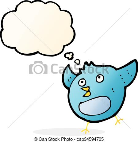 450x463 Cartoon Happy Bird With Thought Bubble.