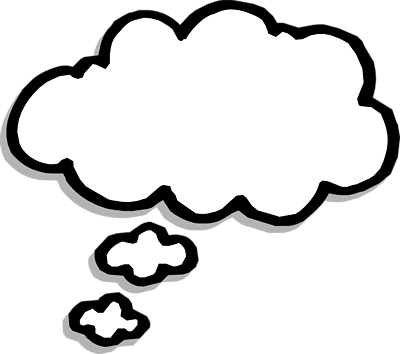 400x354 Thought Bubble Thought Cloud Clip Art