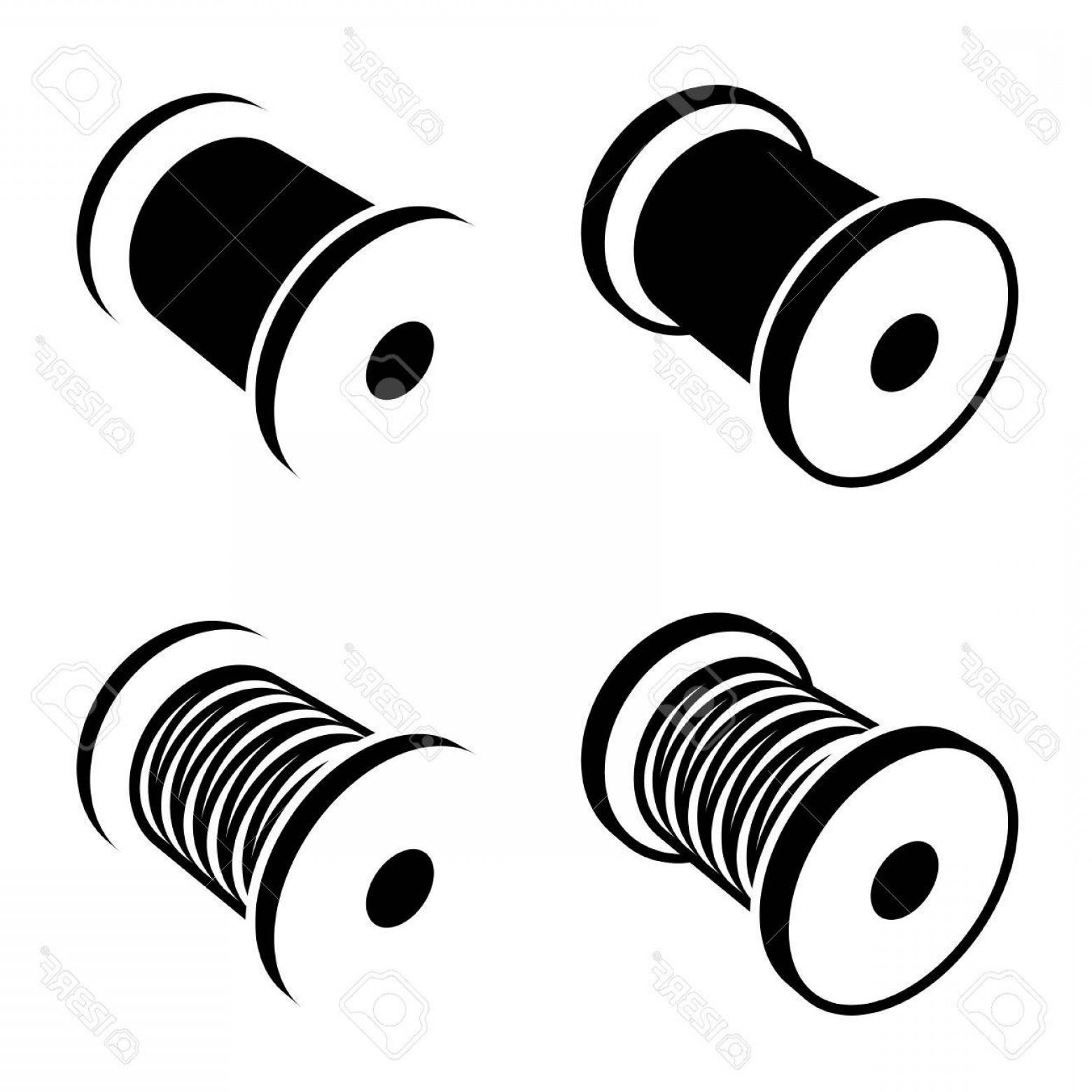 1560x1560 Photostock Vector Sewing Thread Spool Black Symbol Lazttweet