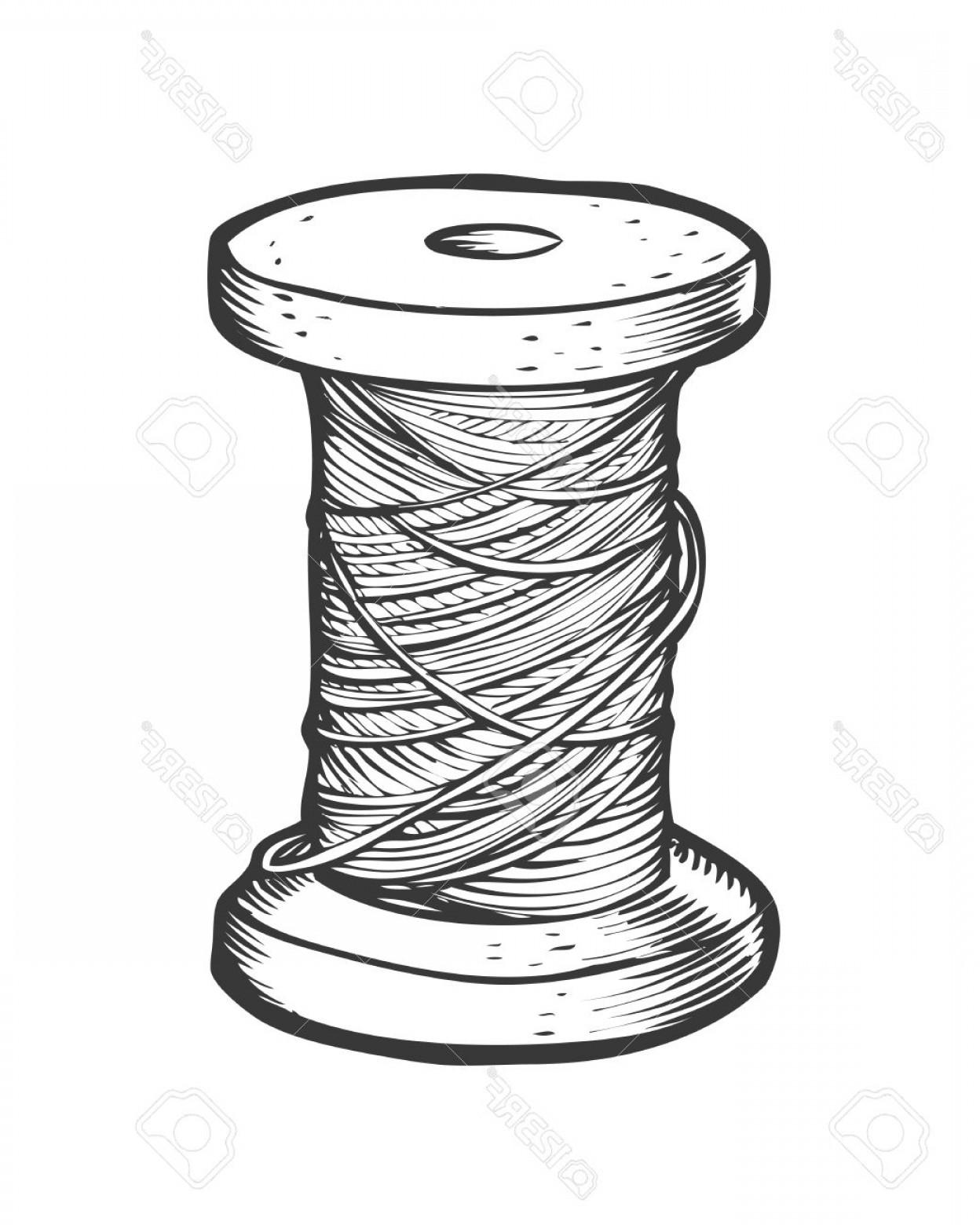 1248x1560 Photostock Vector Spool Of Thread Vector Isolated Illustration
