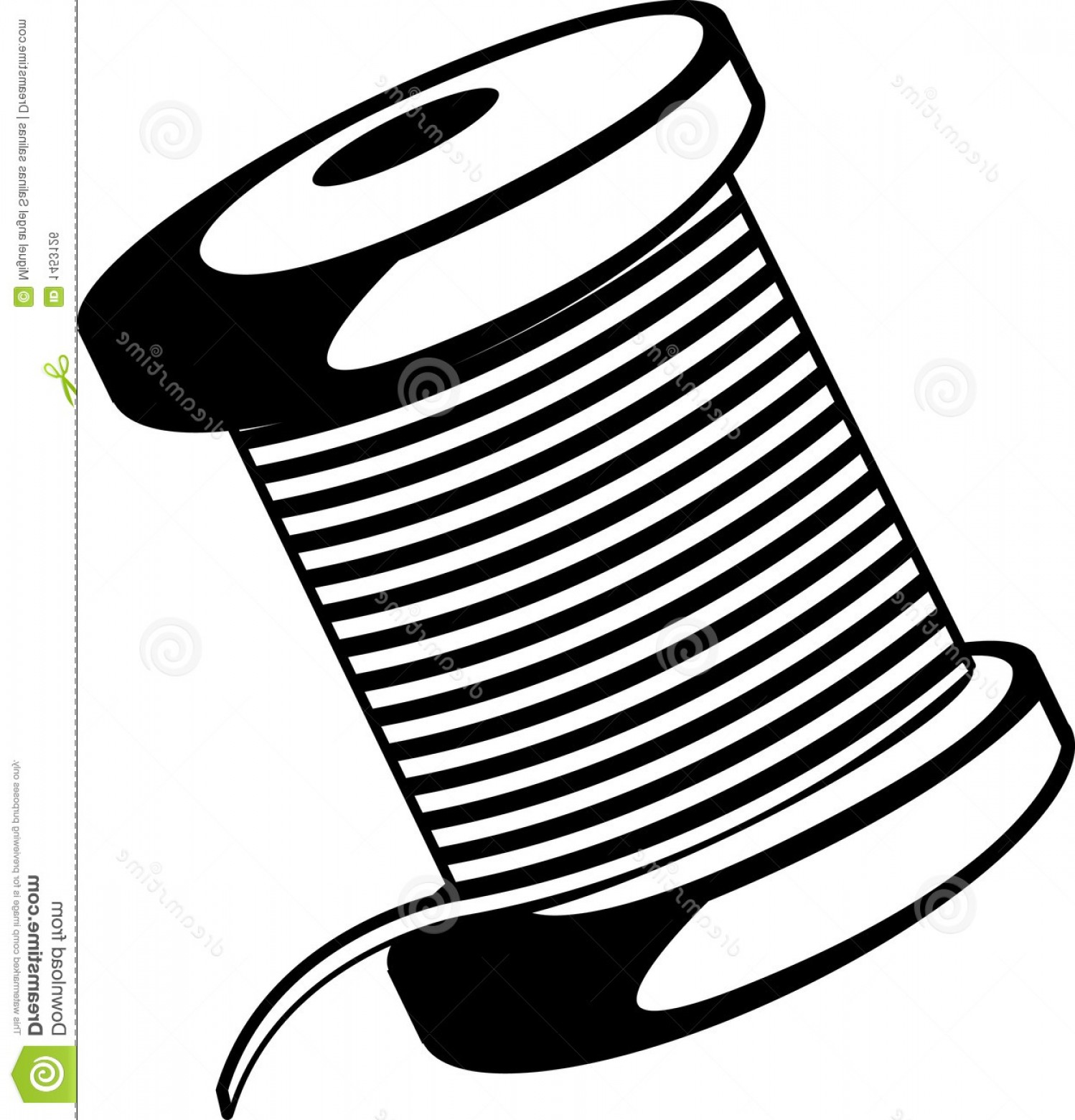 1498x1560 Royalty Free Stock Image Wire Thread Spool Vector Illustration