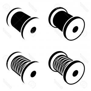 300x300 Spool Thread Icon Sewing Vector Illustration Lazttweet