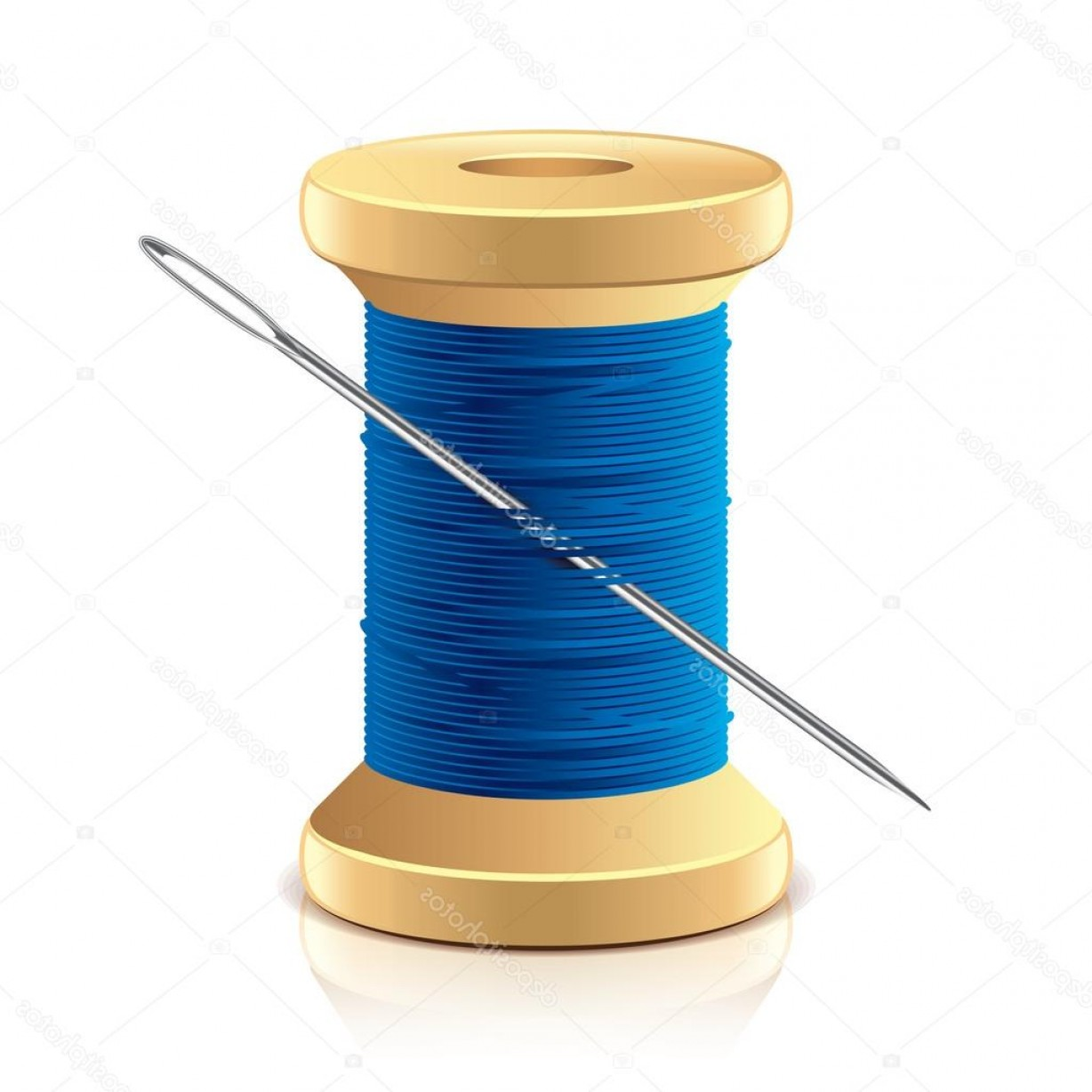 1228x1228 Stock Illustration Needle And Thread Spool Vector Arenawp