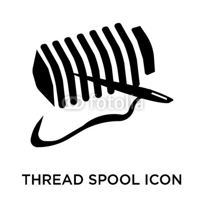 400x400 Thread Spool Icon Vector Sign And Symbol Isolated On White