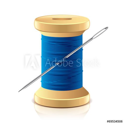 500x500 Needle And Thread Spool Vector Illustration