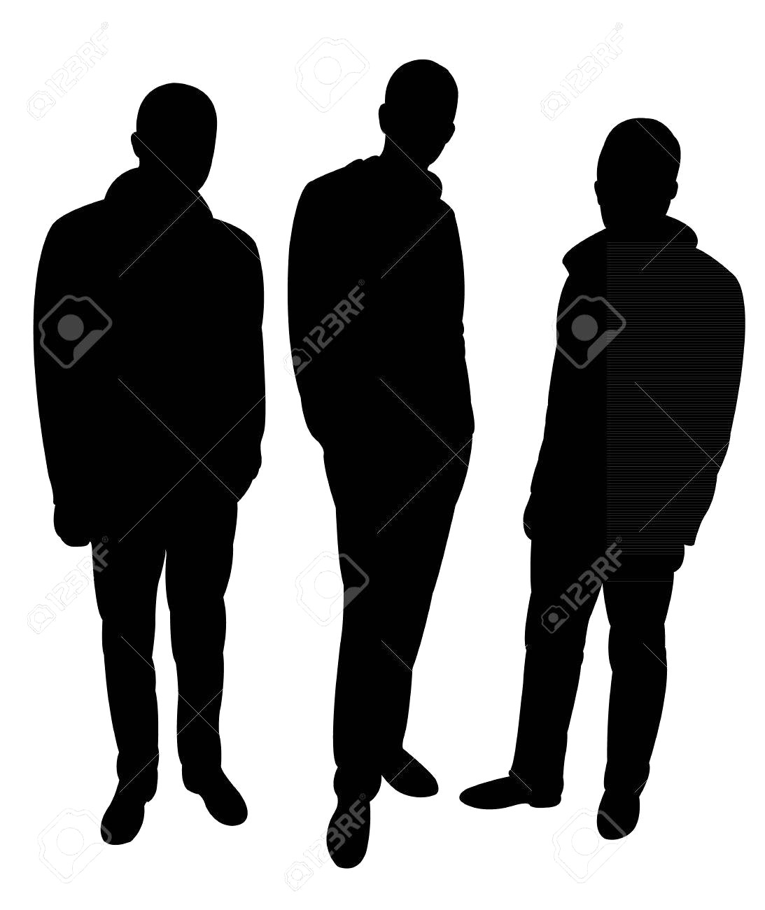1093x1300 28235981 Three Standing Men Silhouette Vector 15