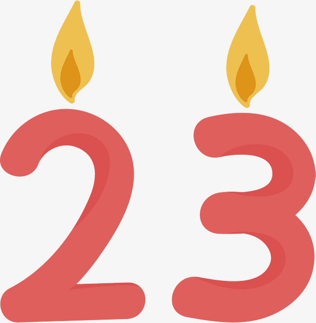650x666 Red Twenty Three Candles, Vector Png, Candle, Red Candle Png And