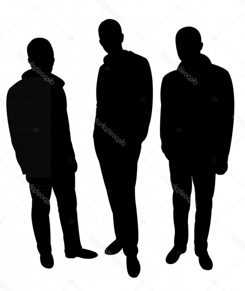 1033x1227 Stock Illustration Three Men Silhouette Vector Shopatcloth