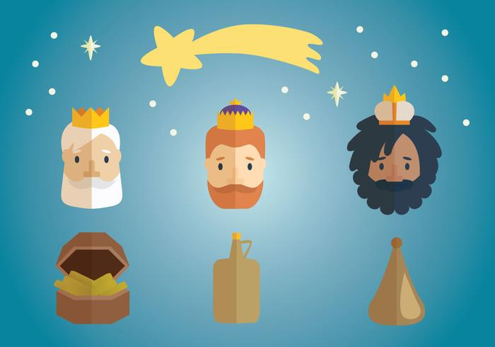 700x490 Three Kings Epiphany Vector