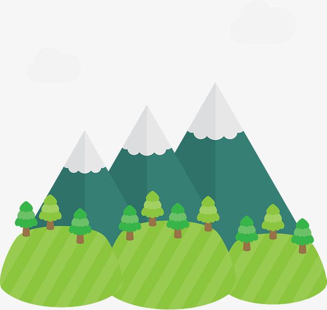 650x615 Vector Cartoon Three Hills, Cartoon Clipart, Mountain, Cartoon