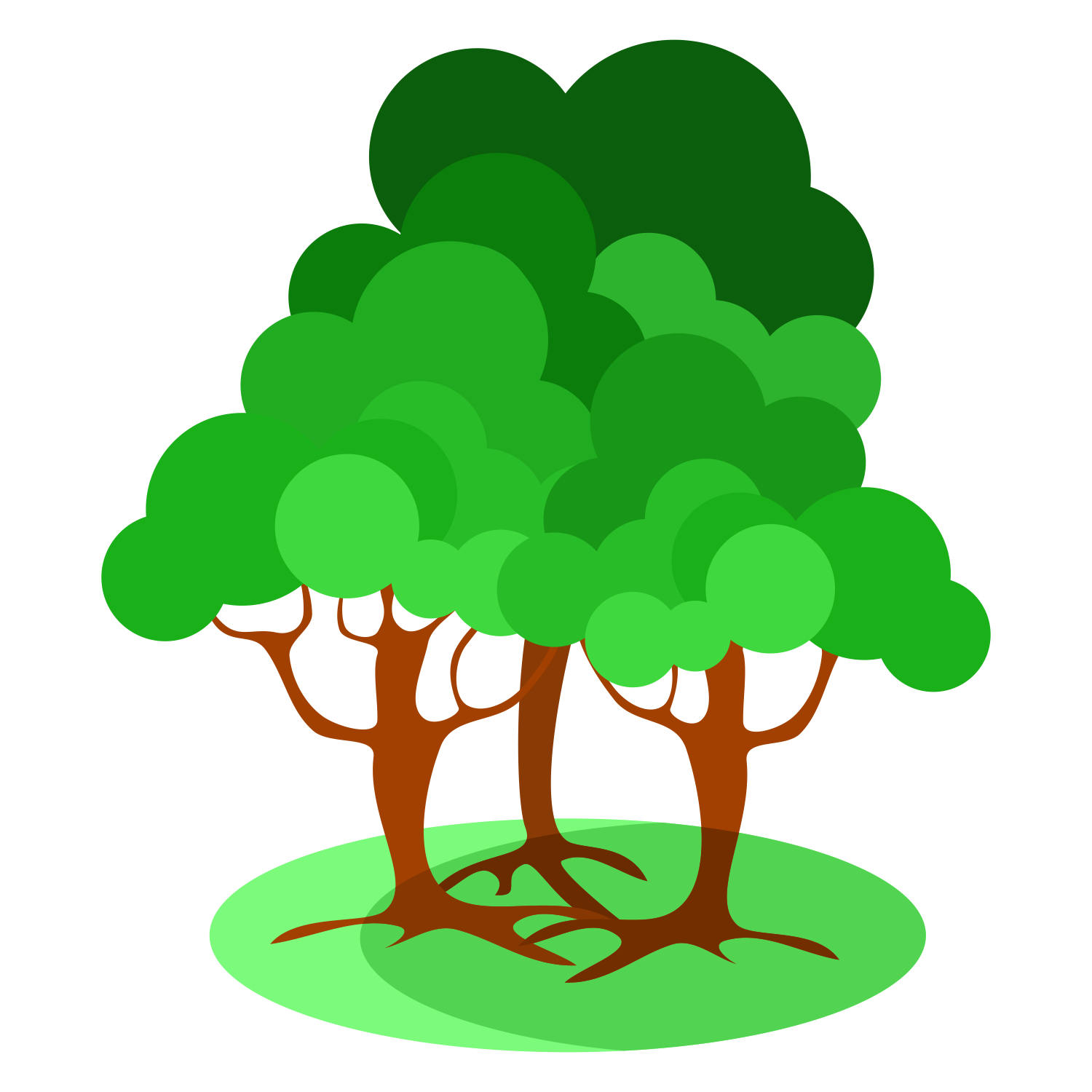 1500x1500 Vector For Free Use Three Trees
