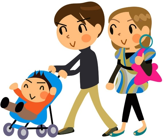 569x488 Cartoon A Family Of Three Vector Free Download Vector ~ Vectorkh
