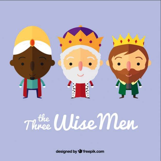 626x626 The Three Wise Men In Cartoon Style Vector Free Download