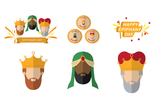 632x443 Three Kings And Epiphany Element Vectors Free Vector Download
