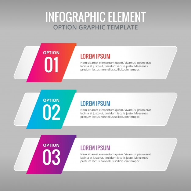 626x626 Ai] Three Banners With Colors For Infographics Vector Free