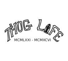 220x200 Thug Life And Roman Numerals Tattoo Designs Tattoo Ideas