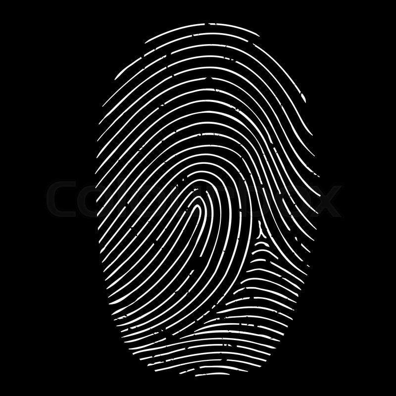 800x800 Fingerprint Isolated On A Black Background Stock Vector Colourbox
