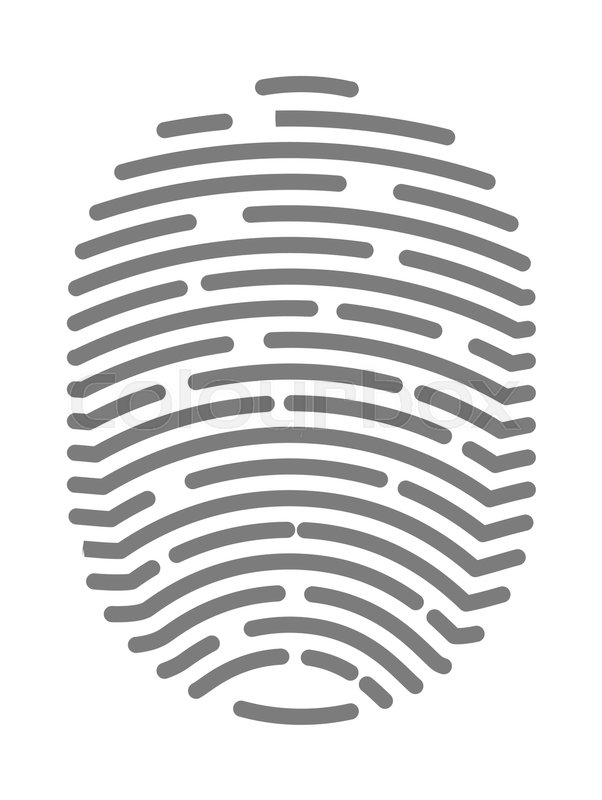 602x800 Fingerprint Of Twisted Lines Sign Isolated On White Vector