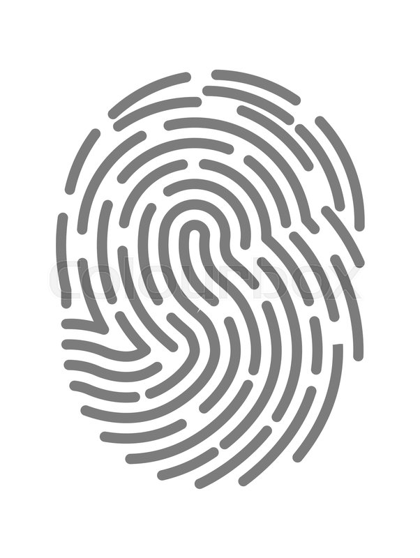 602x800 Fingerprint Twisted Lines Sign Isolated On White Vector