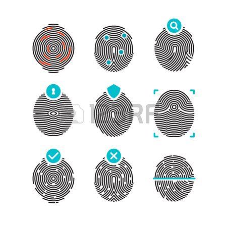 450x450 Fingerprint Vector Icons Identity Fingerprint Or Thumbprint