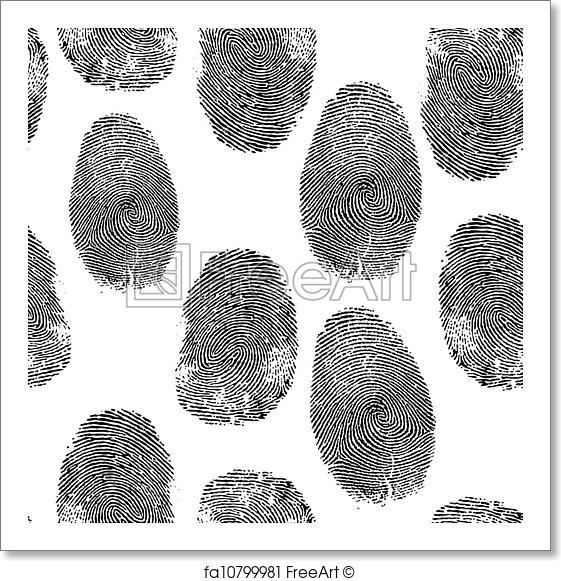 561x581 Free Art Print Of Thumbprint Background. Vector Thumb Print