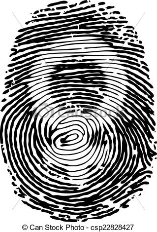 319x470 Thumb Print With Female Gender Symbol. Vector Thumb Print With