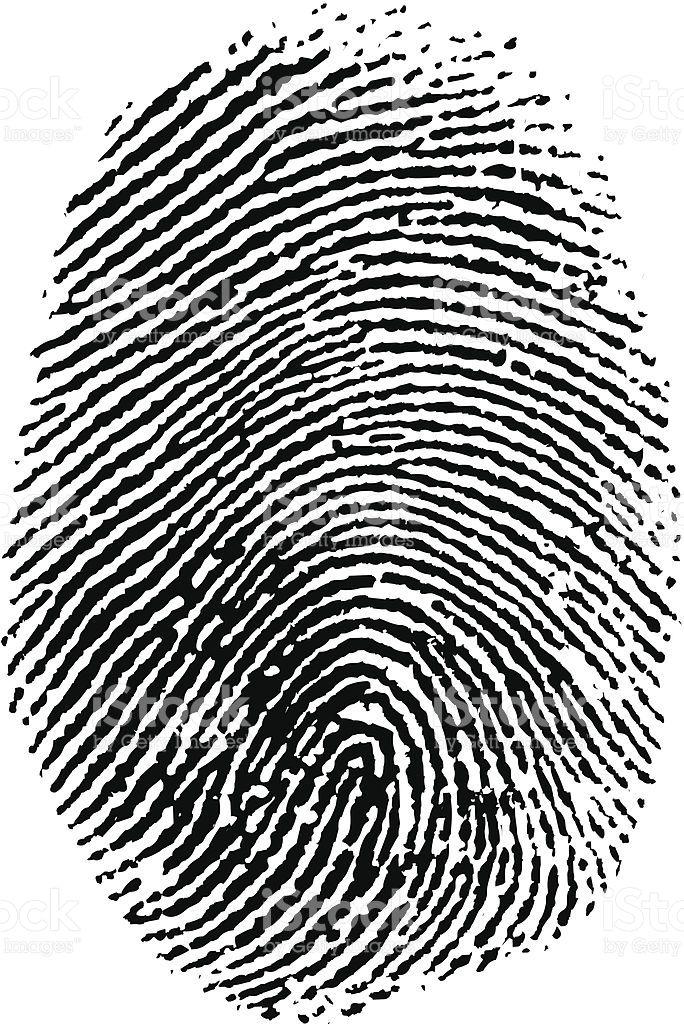 684x1024 Vector Thumb Print. Fingerprint Thumb Prints And
