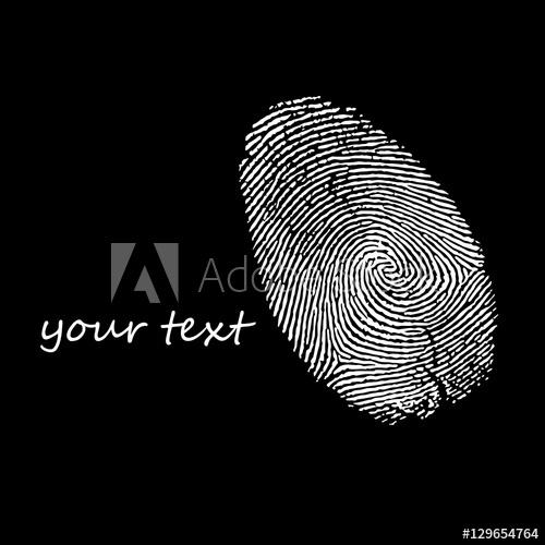500x500 Print, Finger, Fingerprint, Vector, Crime, Identity, Thumb