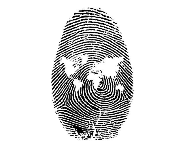 642x514 Finger Print Silhouette Svg Fingerprint Id Identity Reading Etsy