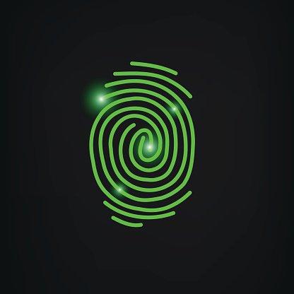 416x416 Fingerprint Scan Icon Vector Premium Clipart