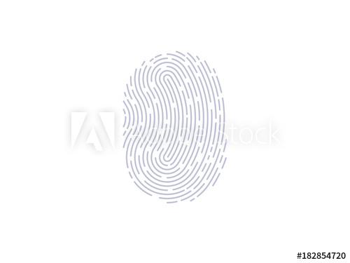 500x375 Fingerprint Scan Icon. Thumbprint Vector