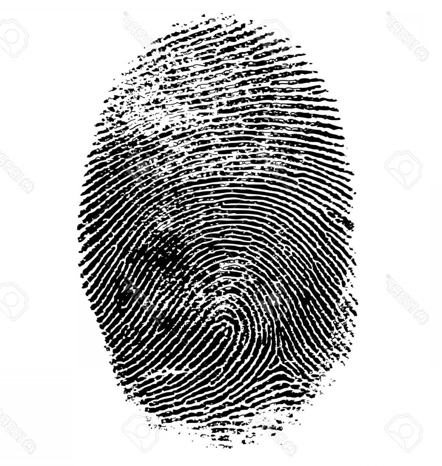 1482x1560 Photostock Vector Vector Illustration Of Fingerprint Isolated On