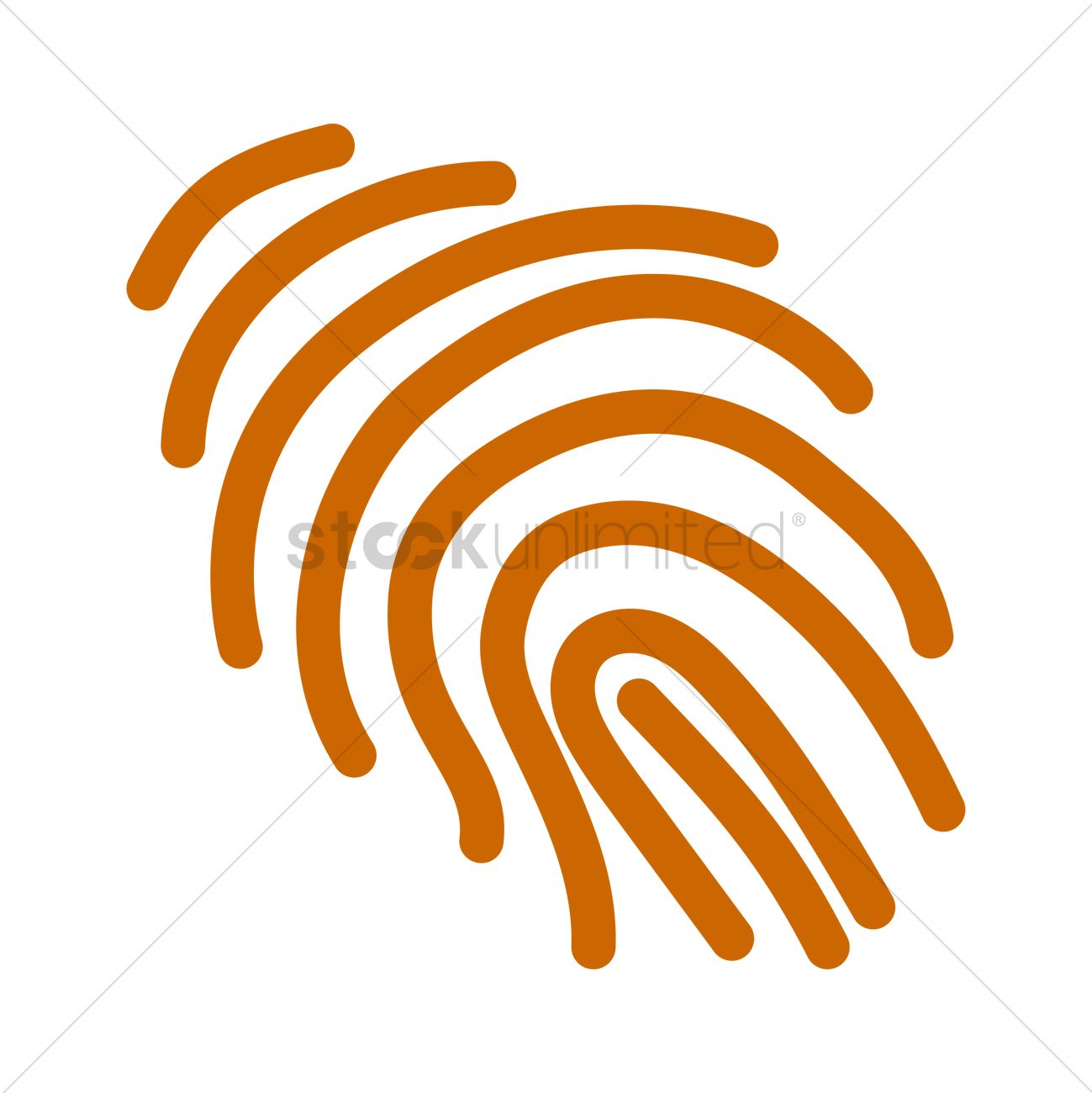 1299x1300 Thumbprint Vector Image