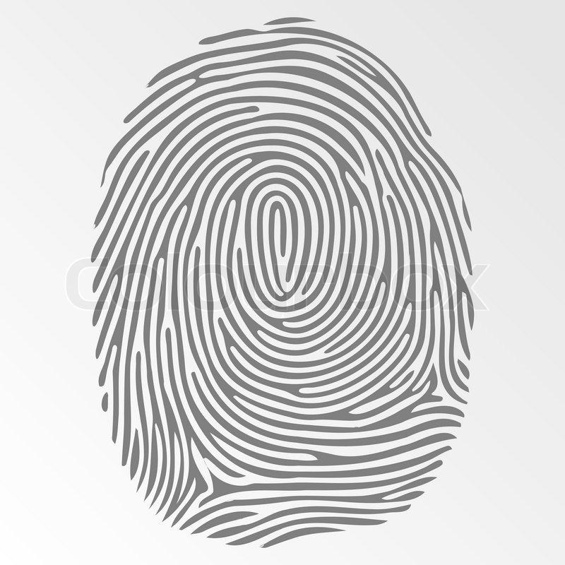 800x800 Vector Dark Fingerprint On Gray Background Stock Vector Colourbox