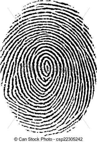 322x470 Fingerprint . Vector Illustration, Isolated, Grouped, Transparent