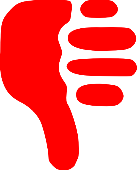 480x594 Red Clipart Thumbs Down