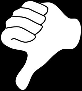 270x299 Thumbs Down Clip Art