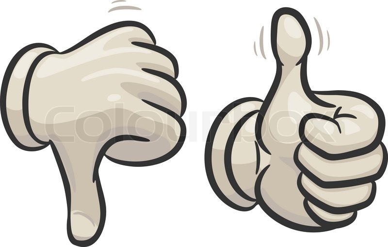800x509 Thumbs Down And Up Stock Vector Colourbox