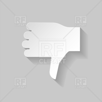 400x400 Thumbs Down Sign In Paper Style Vector Image Vector Artwork Of