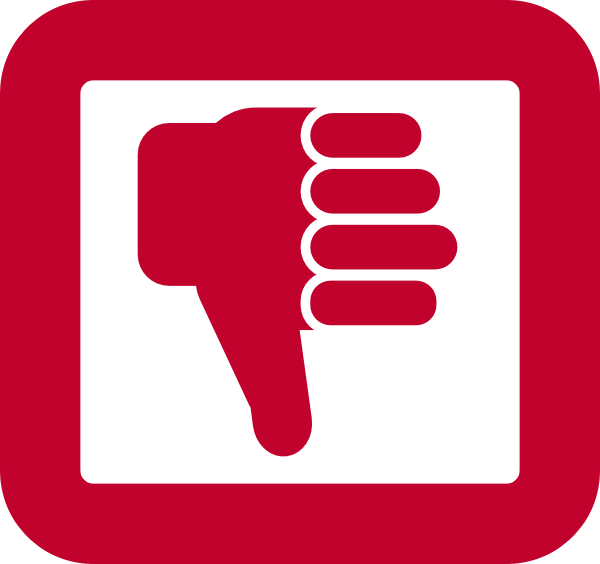 600x564 Collection Of Red Thumbs Down Clipart High Quality, Free