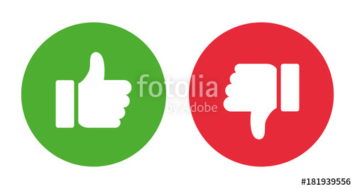 500x267 Thumbs Up And Thumbs Down.stock Vector Stock Image And Royalty