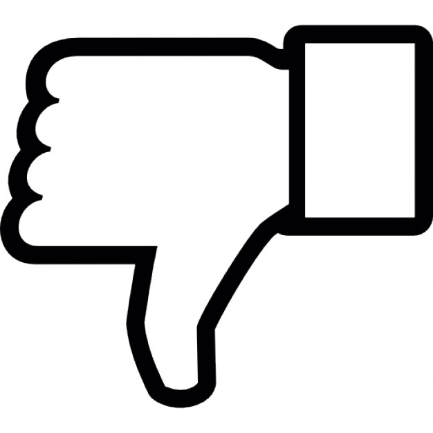 626x626 Dislike On Facebook, Thumb Down Symbol Outline Icons Free Download