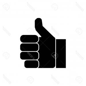 300x300 Thumbs Up Icon Flat Style Vector Rongholland