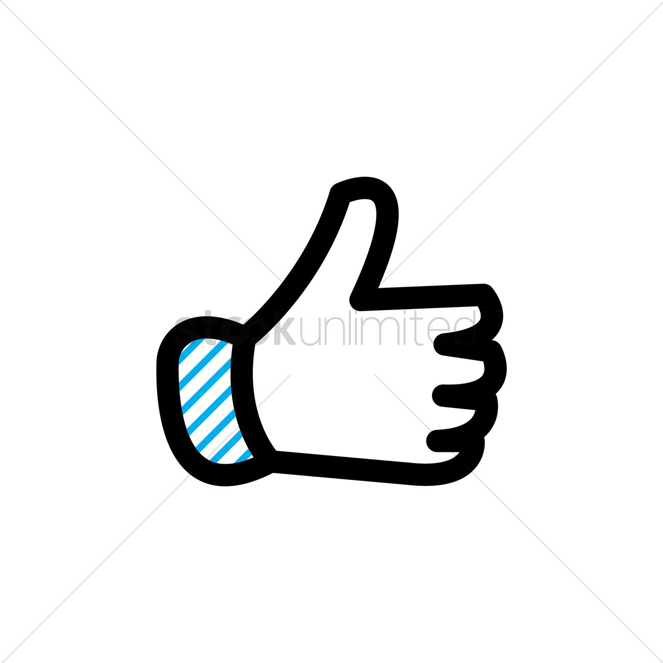 1300x1300 Free Thumbs Up Vector Image
